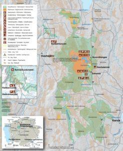 Kartta Kauhaneva-Pohjankankaan kansallispuistosta