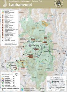 Kartta Lauhanvuoren kansallispuistosta