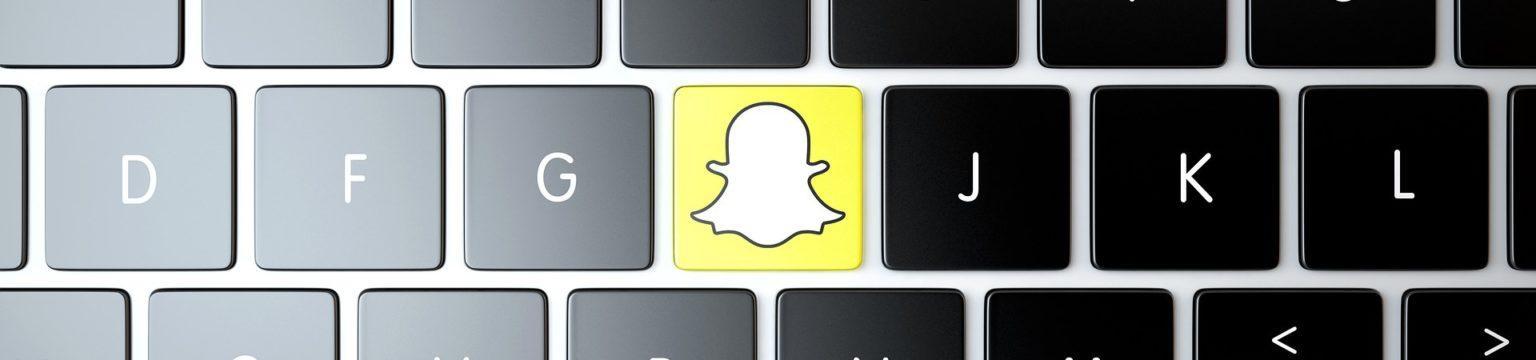 Snapchat logo näppäimistöön sovitettuna