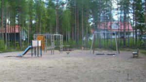 Usvametsän leikkipuistosto.