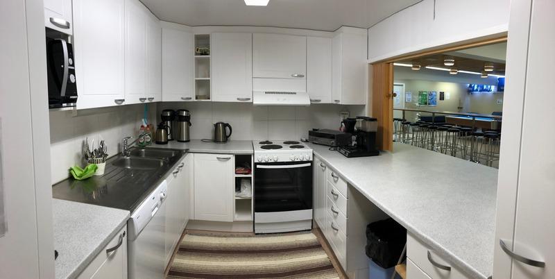 Walkers nuorisokahvilan keittiö