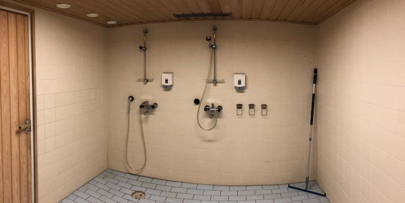 Walkersin saunatilojen kylpyhuone