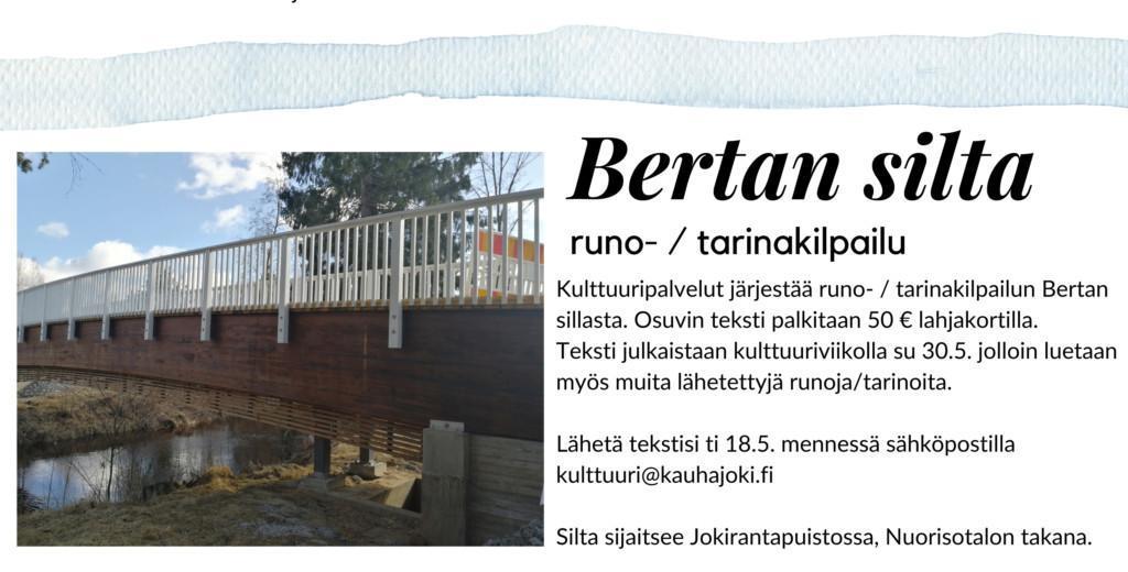 Bertan silta - runo-/tarinakilpailu