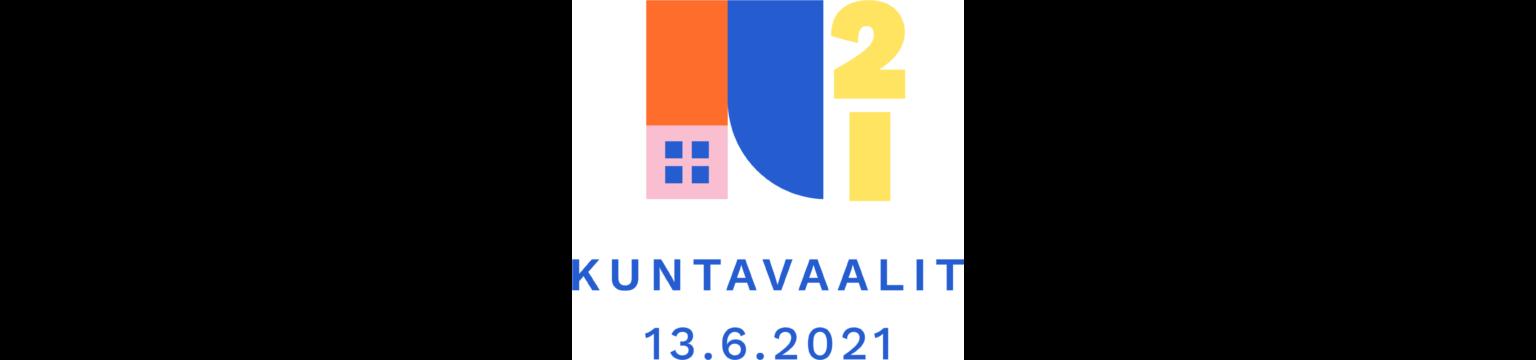 Kuntavaalit 2021 -logo valkoisella taustalla.